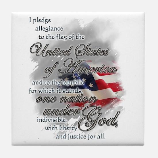 US Pledge - Tile Coaster