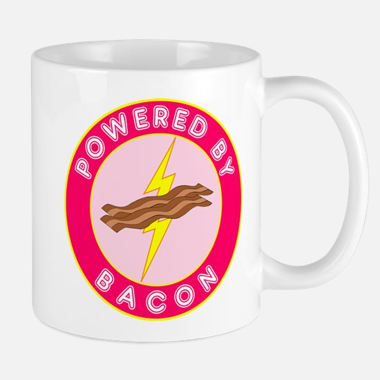 Powered By Bacon (Pink) Mug