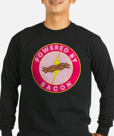 Powered By Bacon (Pink) T
