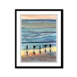 Surfers by RD Riccoboni Framed Panel Print