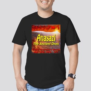Anasazi The Ancient Ones Men's Fitted T-Shirt (dar