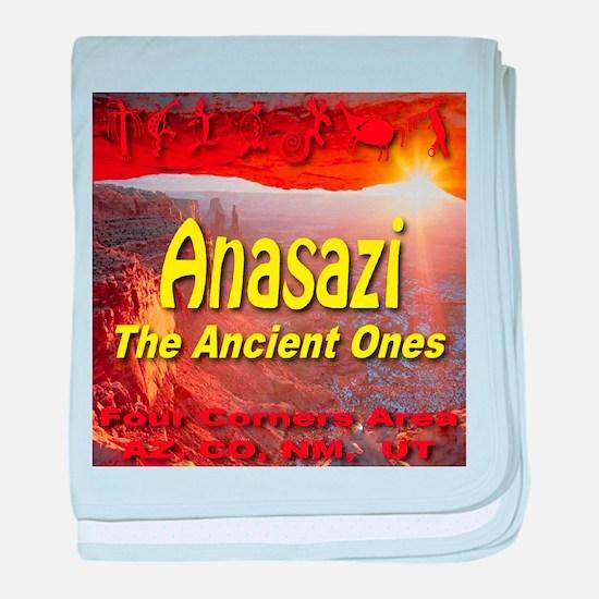 Anasazi The Ancient Ones baby blanket