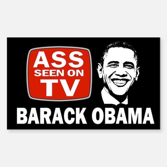 ASS Seen On TV Sticker (Rectangle)
