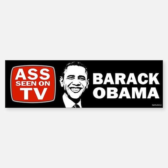 ASS Seen On TV Sticker (Bumper)
