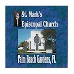 ST. Mark's Episcopal Church Tile Coaster