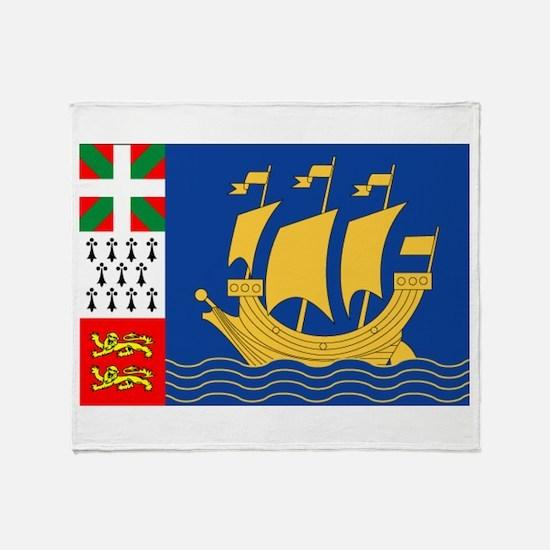 St. Pierre & Miquelon Throw Blanket