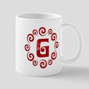 Red G Monogram Mug
