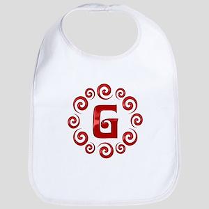 Red G Monogram Bib