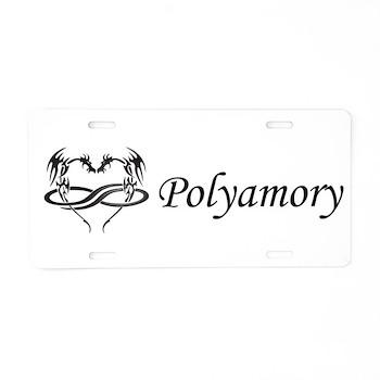 PolyDragon Polyamory Aluminum License Plate