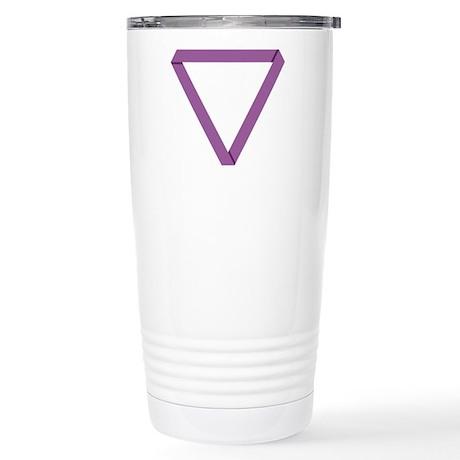 Poly Purple Mobius Stainless Steel Travel Mug