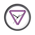 Poly Purple Mobius Wall Clock