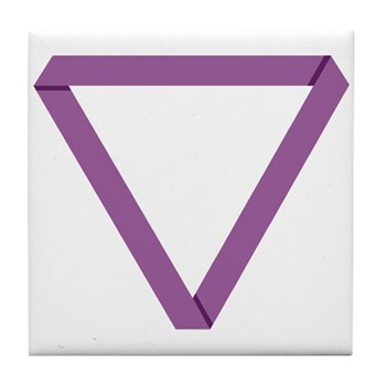 Poly Purple Mobius Tile Coaster