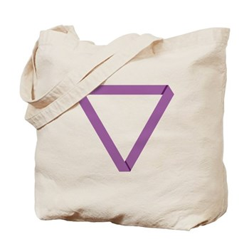 Poly Purple Mobius Tote Bag