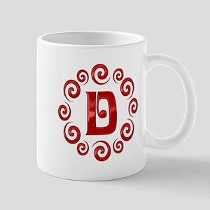 Red D Monogram Mug