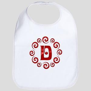 Red D Monogram Bib