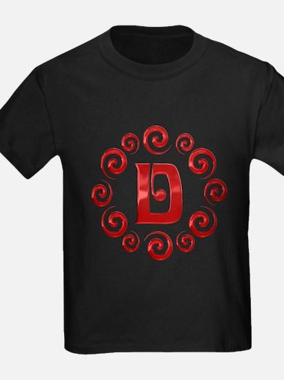 Red D Monogram T
