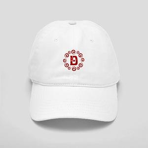 Red D Monogram Cap