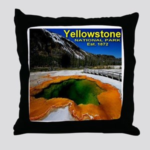 Yellowstone National Park Est. 1872 Throw Pillow