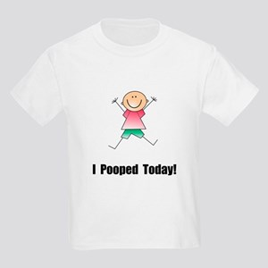 I Pooped Today! Kids Light T-Shirt