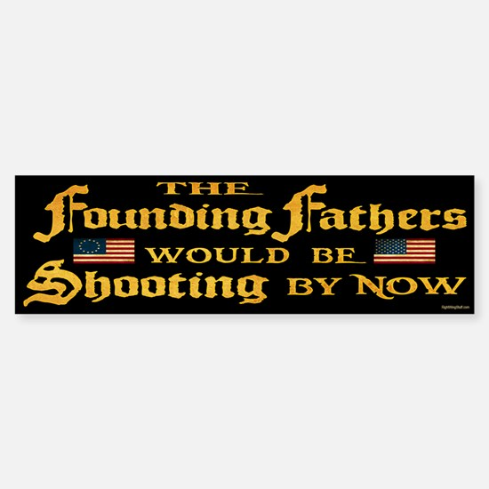 Founding Fathers Shooting Sticker (Bumper)