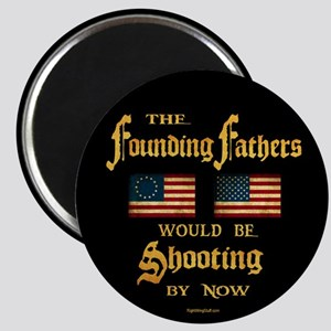"""Founding Fathers Shooting 2.25"""" Magnet (10 pack)"""