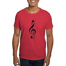 G Clef / Treble Clef Symbol Dark T-Shirt