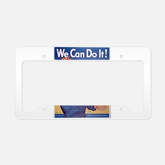 Unique Do work License Plate Holder