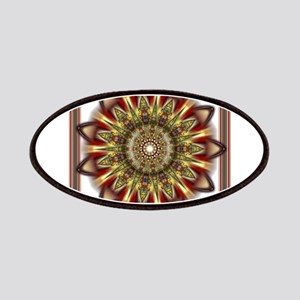 Abstract Red & Gold Kaleidosc Patches