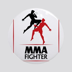 MMA Fighter Ornament (Round)
