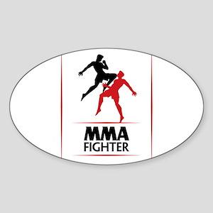 MMA Fighter Sticker (Oval)