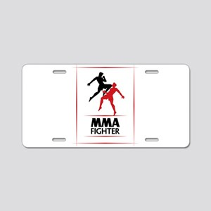 MMA Fighter Aluminum License Plate