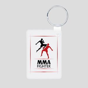 MMA Fighter Aluminum Photo Keychain