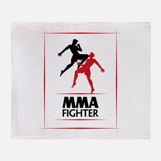 MMA Fighter Throw Blanket