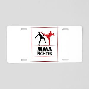 MMA Fighter Aluminum License Plate
