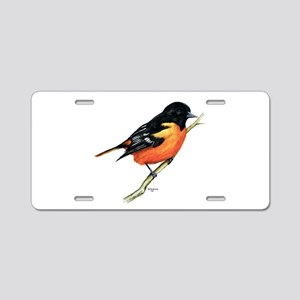 Baltimore Oriole Aluminum License Plate