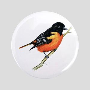 """Baltimore Oriole 3.5"""" Button"""