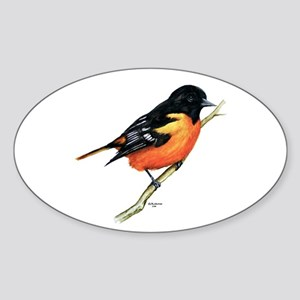 Baltimore Oriole Sticker (Oval)