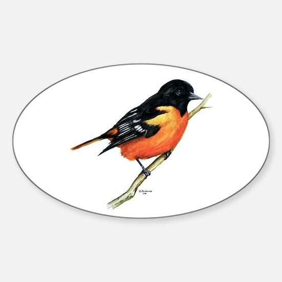 Baltimore Oriole Sticker (Oval)