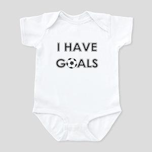 I HAVE GOALS Infant Creeper