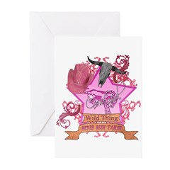 CowGirl Wild Thing never been Greeting Cards (Pk o