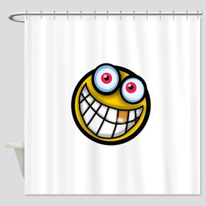 Smiley emoji Shower Curtain