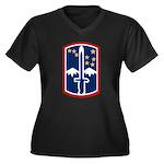 172nd Infantry Women's Plus Size V-Neck Dark T-Shi