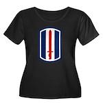 193rd Infantry Women's Plus Size Scoop Neck Dark T