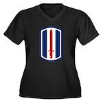 193rd Infantry Women's Plus Size V-Neck Dark T-Shi