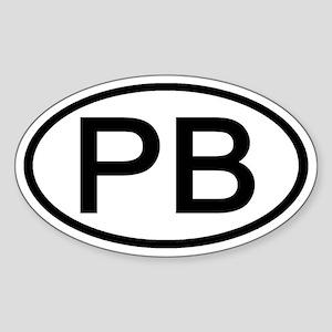 PB - Initial Oval Oval Sticker