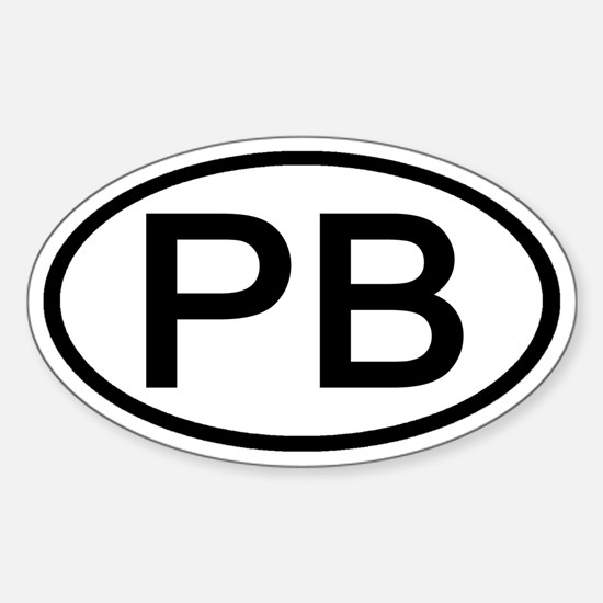 PB - Initial Oval Oval Decal