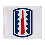 197th Infantry Throw Blanket