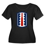 197th Infantry Women's Plus Size Scoop Neck Dark T