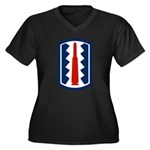 197th Infantry Women's Plus Size V-Neck Dark T-Shi
