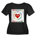 Maryland is Marry-Land Women's Plus Size Scoop Nec